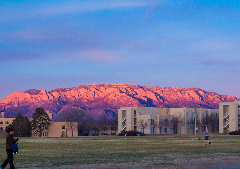 Sandia Mountains from UNM