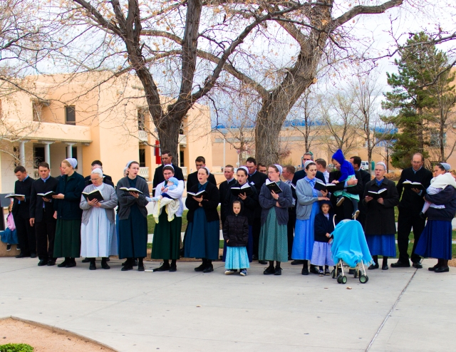 A few weeks ago we had some Mennonite singers on campus. I wasn't able to get out for a picture today, so I wanted to share this with you!
